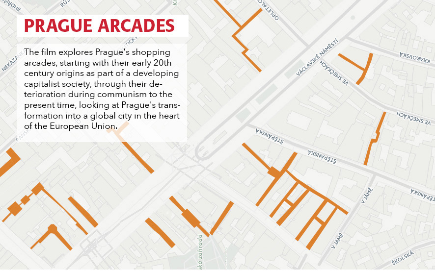 Prague Arcades, Map