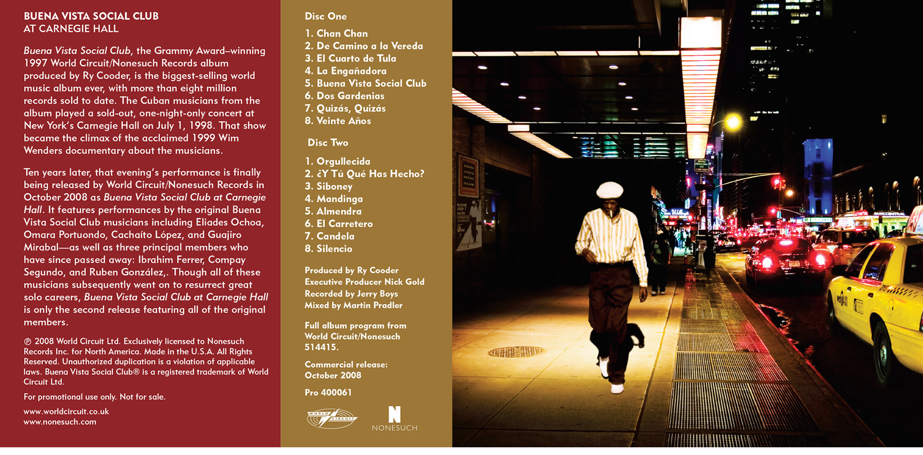 Buena Vista Social Club, CD design
